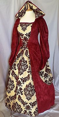 Medieval Hooded Dress Renaissance Gown Pagan Custom Gothic Custom Made to size