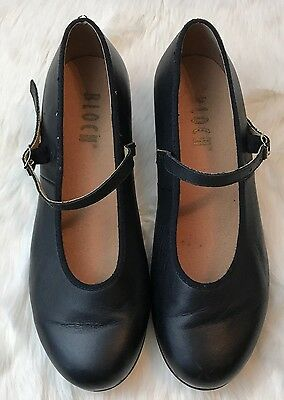 Women's Black Leather BLOCH Techno Tap Shoes Size 7.5 M GREAT Condition