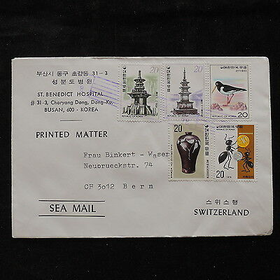 WS-A281 S. KOREA - Birds, Vases, Building, Great Franking Cover