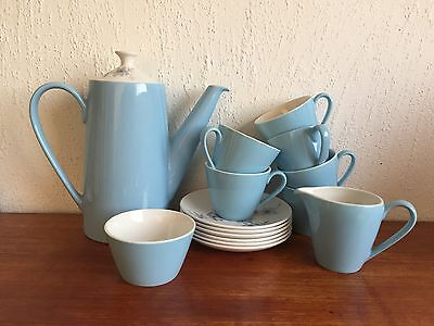 Vintage Johnson Bros 6- Service Coffee Set Pale Blue