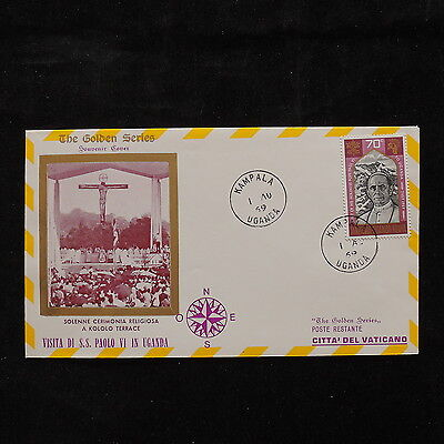 WS-A284 UGANDA IND - Paul Vi, Kololo Terrace Visit Of Pope To Vatican 1969 Cover