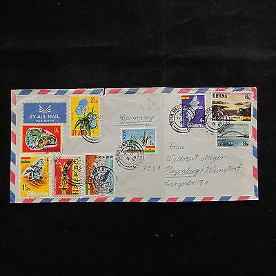 WS-A410 GHANA - Flowers, Birds, Flags 1969 Front Of Cover