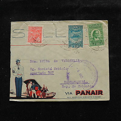 WS-A451 BRAZIL - Panair, 1932 Part Of Cover