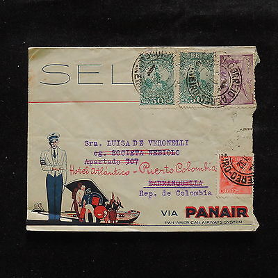 WS-A452 BRAZIL - Panair, To Colombia Part Of Cover