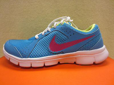 New Nike Flex Experience (GS) Girls Size 4 Y Youth Running Shoes Blue 599344-401