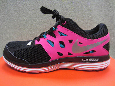 New Nike Dual Fusion Lite (GS) Girls Size 5Y Youth Shoes 599295-001 Black/Pink