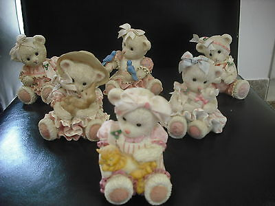 Six Teddy Bear Figurines from the Promise Bears Collection