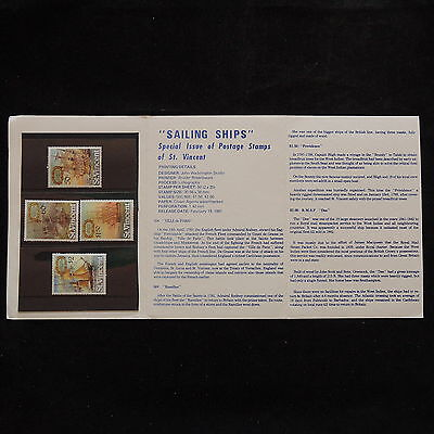 WS-A624 SHIPS - St Vincent, Special Issue Stamps Booklet