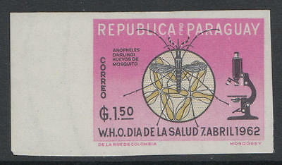 WS-A686 PARAGUAY - Malaria, Rare Imperf. Stamp MNH