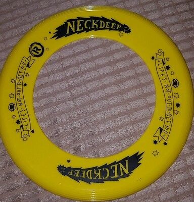 NECK DEEP FRISBEE YELLOW life's not out to get you NEW merch CHRISTMAS punk gift