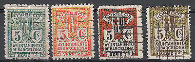 WS-A818 SPAIN - Selection, Ayuntamiento De Barcelona 1-4 Serie 5C. Used