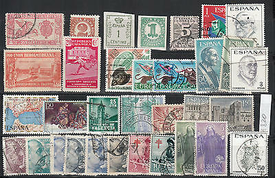 WS-A820 SPAIN - Lot, Old Stamps Mh, Mnh, Used