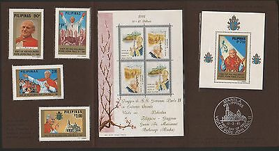WS-B017 PHILIPPINES IND - John Paul Ii, Special Booklet Visit Fdc 1981 MNH