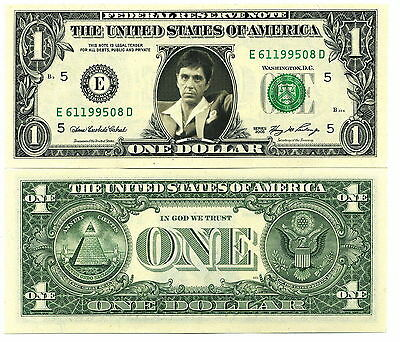 Scarface/ Al Pacino - Vrai Billet Dollar Us - Tony Montana !!
