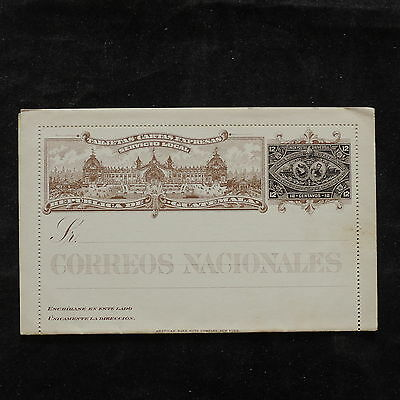WS-B181 GUATEMALA - Letter Card, Mint 12 Centavos Black Cover
