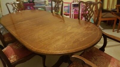 Reproduction Chippendale Mahogany Dining Table