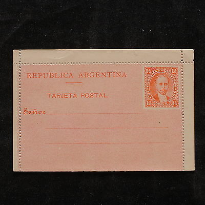 WS-B220 ARGENTINA - Letter Card, Mint 1 1/2 Centavo, Orange Red Cover