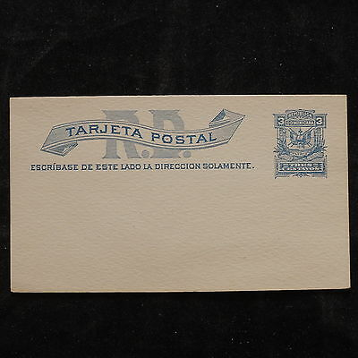 WS-B222 DOMINICAN REP. - Postcard, Mint 3 Centavos Blue Cover