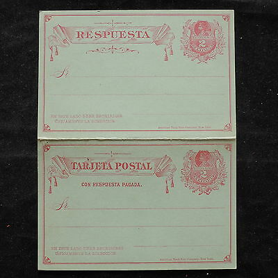 WS-B236 CHILE - Postcard, Mint 2 Centavos, Red On Light Green, Columbus Cover