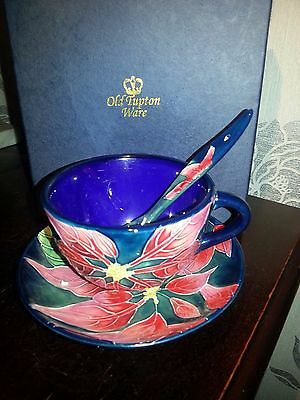 Old Tupton Ware Cup & Saucer With Matching Spoon New In Box