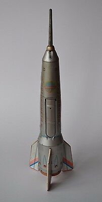 Vintage Tinplate Rocket Ship, with standing mechanism