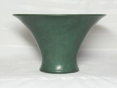 Marblehead Pottery, Lg Wide Mouth Matte Green Flaring Vase, Excellent~~~