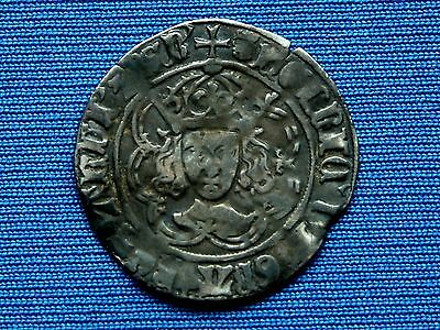Henry VII Groat - Facing bust Issue - Class IIIc- mm leopards head/pansy - Rare