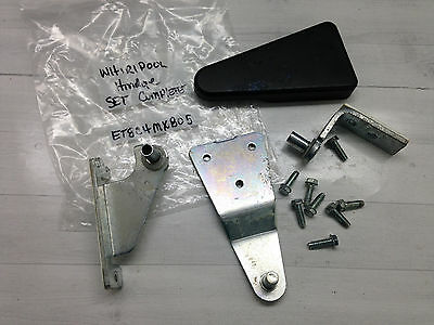 Whirlpool Refrigerator Hinge Set & Cover 2213360 Mdl ET8CHMXKB05 Part {AG}