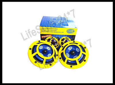 New Hella Twin Supertone Horn Kit 003399801 Real Hella Yellow Horns