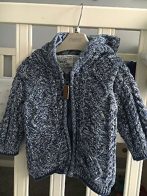 Next Baby Boys Knitted Jacket 6-9 Months
