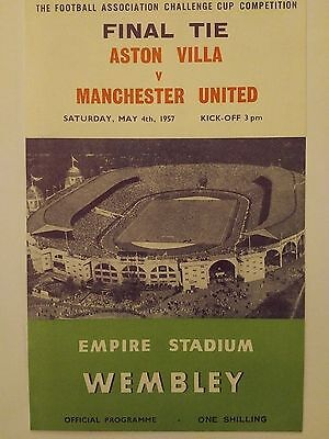 1957 FA Cup Final programme Reprint (4 pages) Mint condition
