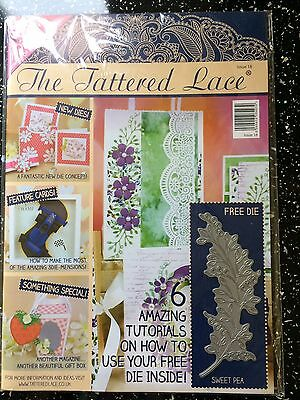 Tattered Lace Magazine With Sweet Pea Die New