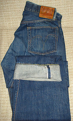 Vintage Style Sugar Cane 1955 Raw Denim With Deadstock Zipper Jeans 34X34