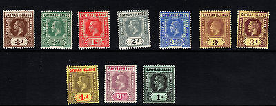 Cayman Islands-1912-20 - ¼d to 1s-10 Values SG40-48 - lightly mounted mint
