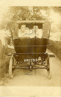 RA107 Exceptional Old RP POSTCARD - Early Model T Ford Vintage Car - 1910s