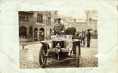 RA225 Early RP POSTCARD - Baby Peugeot Vintage Car - Posted 1905