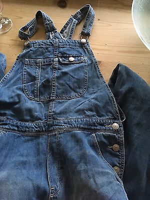 H & M Girls 12-13 Yrs Denim Dungarees