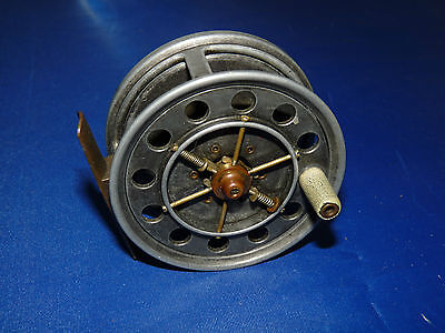 "rare Allcocks Aerial Model Perfect  fly reel 3"" single handle few ever seen"