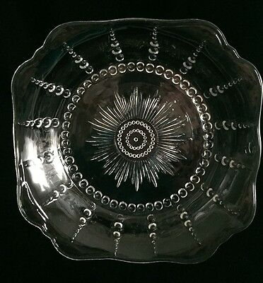 Federal Depression Glass Columbia 8-inch Square Soup/Vegetable Bowl - 1938-1942