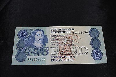 1992 South Africa 2 Rand Banknote SN#FF2462036 Excellent Condition