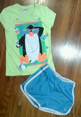 Girls 2pc outfit shirt shorts size 12 JUSTICE