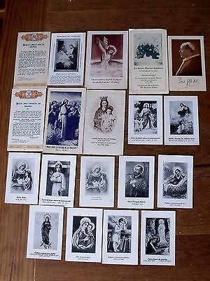 Lot Of 19 Vintage Catholic Cards, Religious Images, Holy Cards, Free Shipping