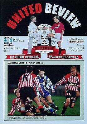 MANCHESTER UNITED v WREXHAM FA Cup 4th Round 1994/95