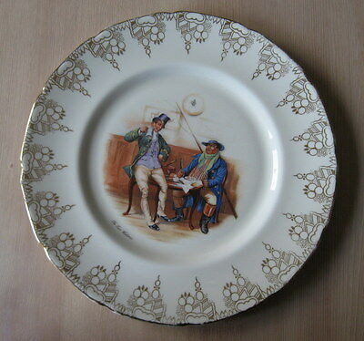 Royal Doulton The Two Wellers Dickens Character Plate  Retro