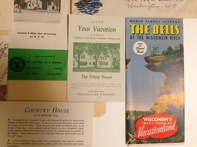 Collection of 1947 Wisconsin Travel Brochures