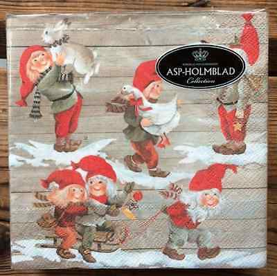 SALE Christmas Santa Tomten paper napkins 33x33cm, 20 counts decoupaging Finland