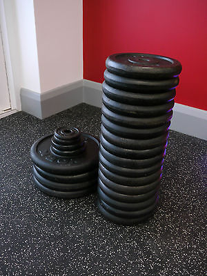 120kg+ Cast Iron Weight Plates Package