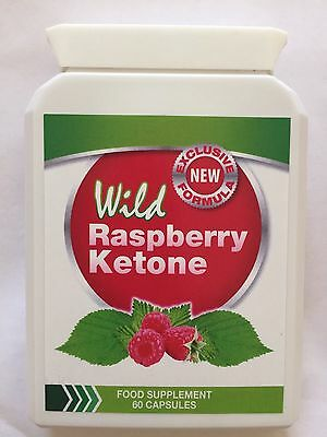 Wild Raspberry Ketone Dietary Supplement - 60 Capsules. UK Seller Fast Delivery.
