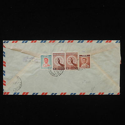 WS-E282 THAILAND - Cover, 1958 Airmail Registered To Torino Italy
