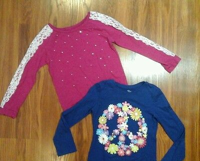 Girls lot of 2 long sleeve shirts size 7/8 Children's Place